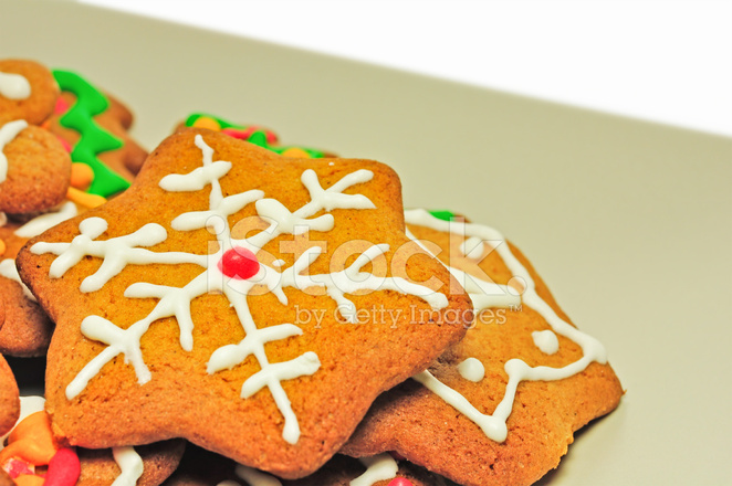 Christmas Gingerbread Biscuits Stock Photos Freeimages Com