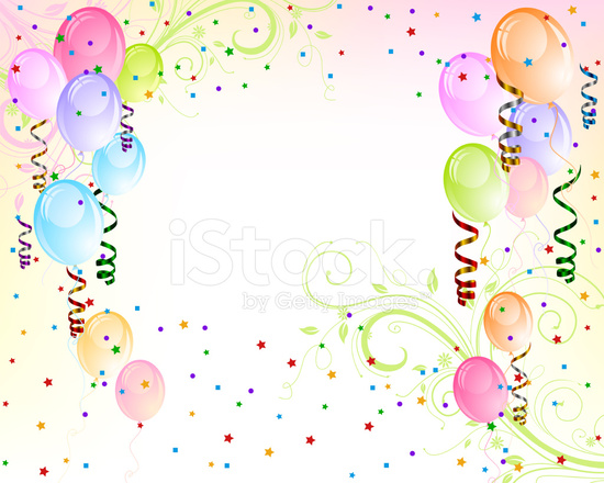 Birthday Balloon Background Stock Vector - FreeImages.com
