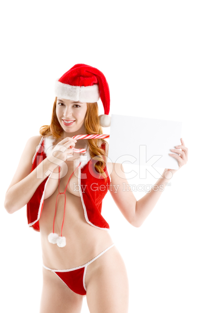c41928364 Premium Stock Photo of Sexy Christmas Seductive Naked Claus With Copyspace