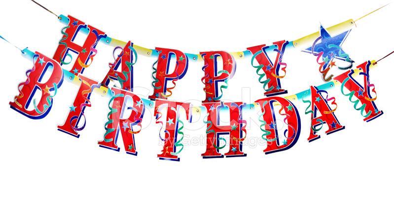 Happy Birthday Alphabets Stock Photos