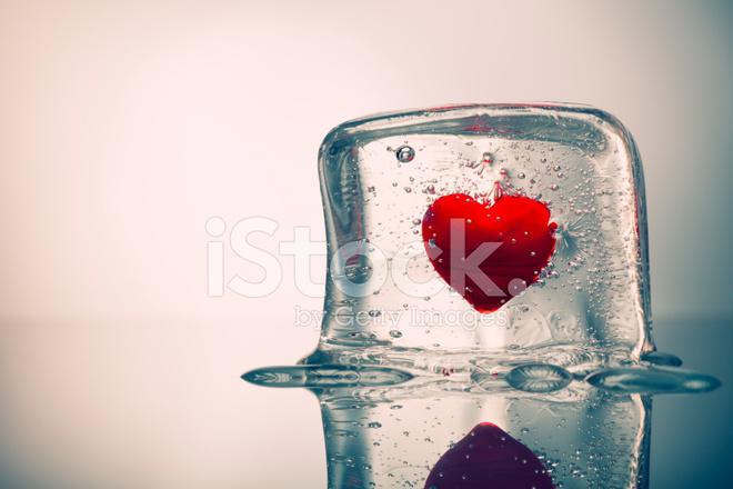 Bevroren Hart   Water Ice Cube Love Valentijnsdag