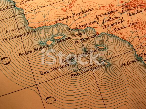 antika harita amerikan california sahili