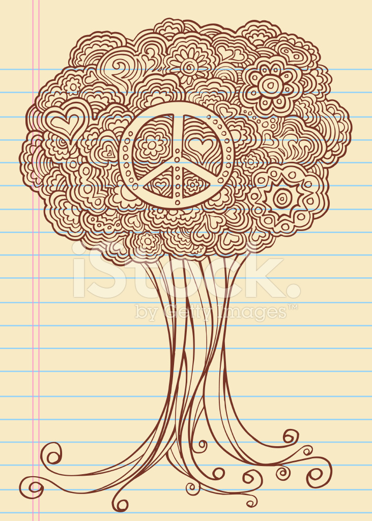 Notebook Doodle Sketch Henna Tree Stock Vector Freeimages Com
