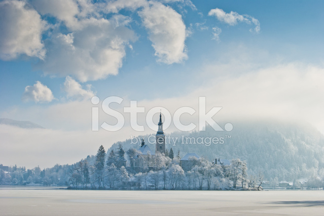 Lake Bled In Winter Slovenia Stock Photos Freeimages Com