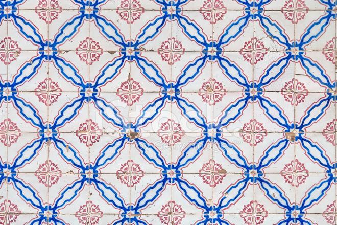 Dekorative Portugiesischen Kacheln Azulejos Stockfotos FreeImagescom - Portugiesische fliesen azulejos
