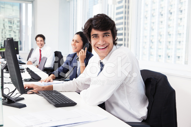 Happy Office Worker Stock Photos Freeimages Com