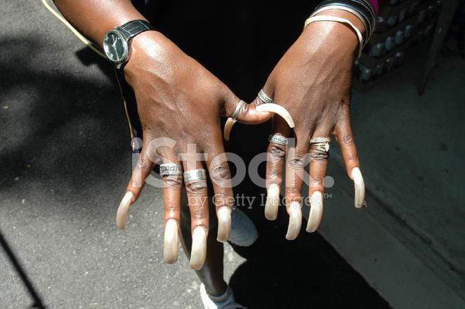 Long Fingernails Stock Photos