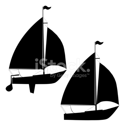 sailboat silhouettes stock vector - freeimages