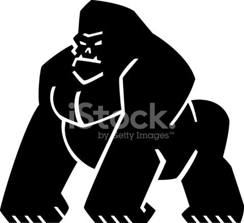 graphic gorilla logo stock vector freeimages com rainforest animals images clipart rainforest animal clipart printable