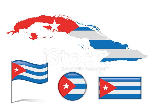 Karte Kuba.Kuba Karte Flagge Stock Vector Freeimages Com