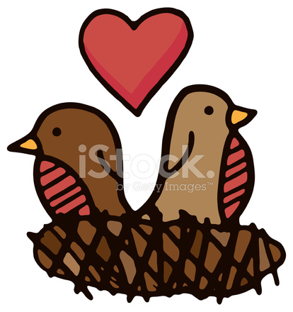 Doodle Of Two Love Birds In A Messy Nest Stock Vector Freeimages Com