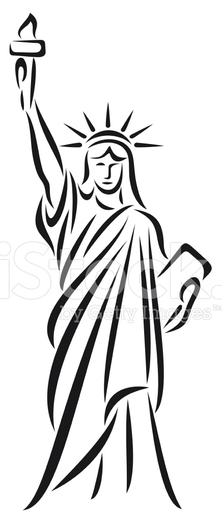 Statue Of Liberty 1749512 on grill clip art black and white