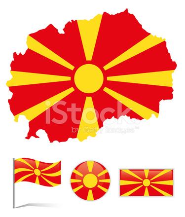 Mazedonien Karte.Mazedonien Karte Flagge Stock Vector Freeimages Com
