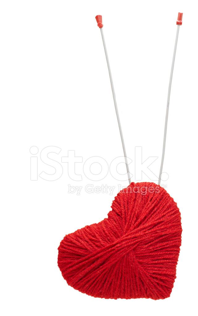 Corazón DE Hilo Rojo Con Flechas Habló, Aislado En Blanco ...