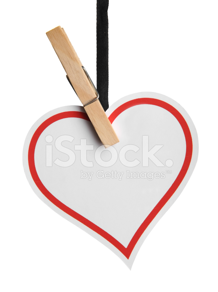 Empty heart shaped red label stock photos freeimages empty heart shaped red label ccuart
