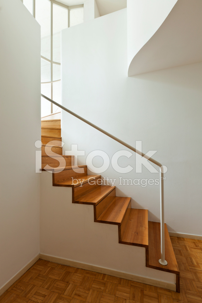 Interior Duplex Wooden Stairs Stock Photos Freeimages Com