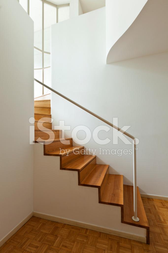 Interior duplex wooden stairs stock photos - Material para escaleras interior ...