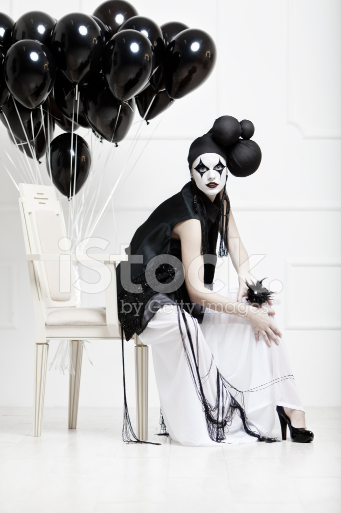 mime の若い美しい女性の様式化されたファッション写真 ストックフォト