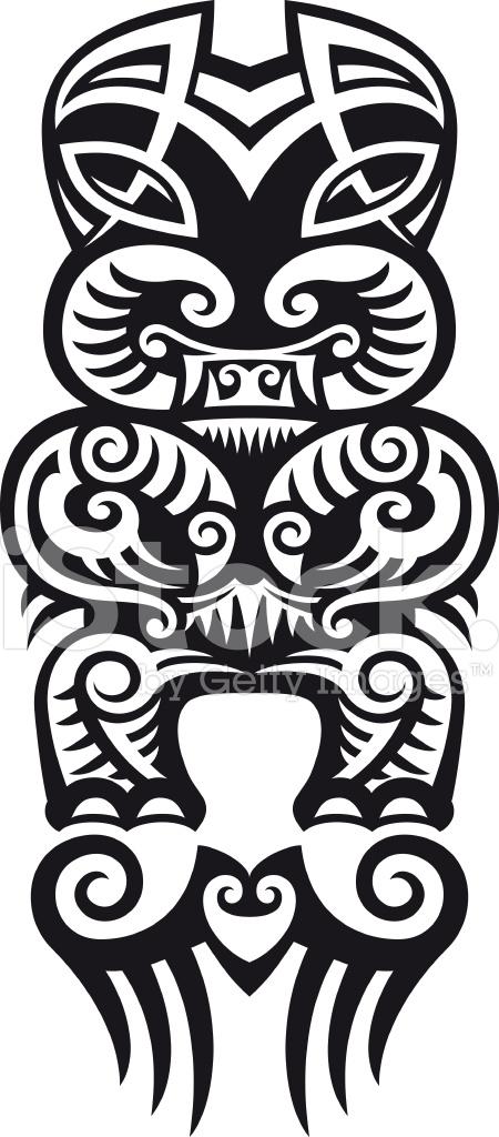 taniwha tattoo design stock vector. Black Bedroom Furniture Sets. Home Design Ideas