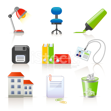 Office Icons Stock Vector - FreeImages com