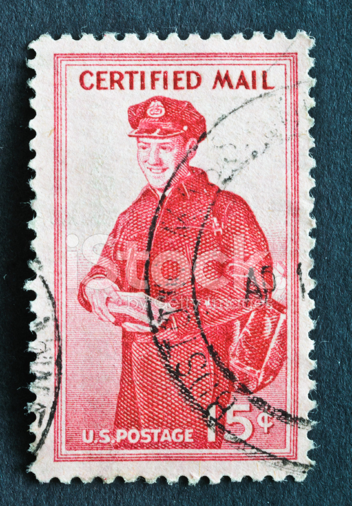 Certified Mail Stamp Stock Photos