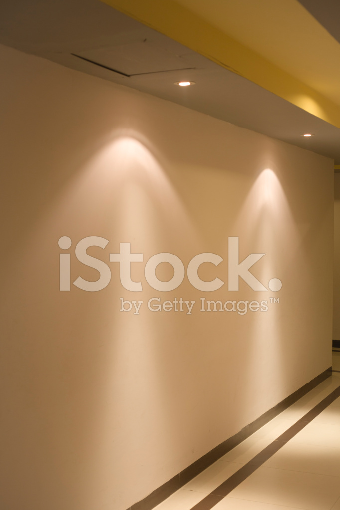 Hallway lobby with focus lights on the wall stock photos hallway lobby with focus lights on the wall aloadofball Gallery