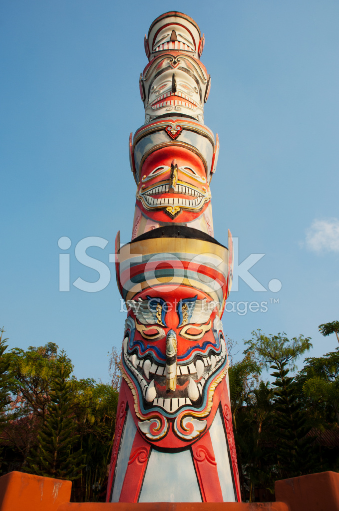 Ghost Mask Totem Stock Photos Freeimages Com