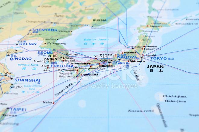 Japan Karte.Karte Von Japan Stockfotos Freeimages Com