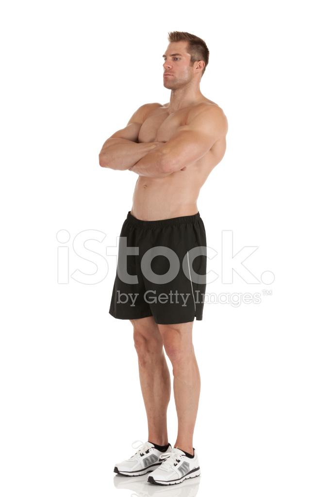 Muskulöse Mann MIT Seiner Arme Verschränkt Stockfotos - FreeImages.com