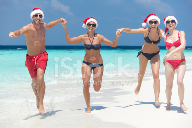 People Beach Christmas stock photos - FreeImages.com