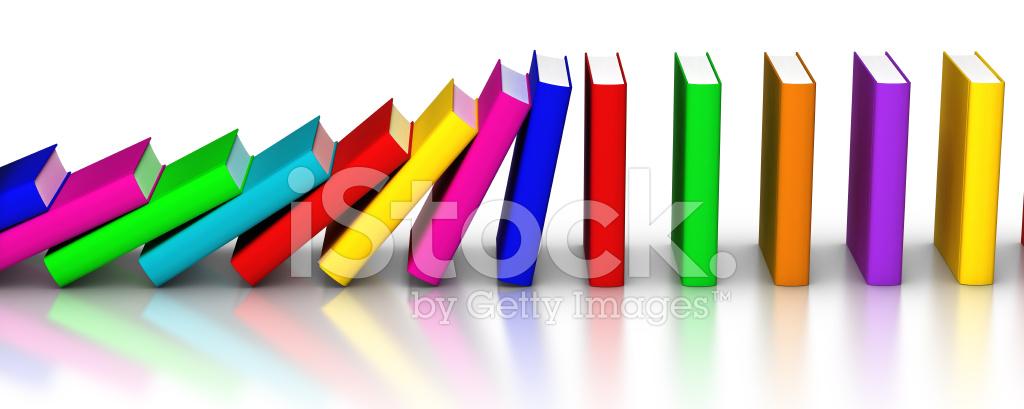 Colorful Books Falling Like Domino Stock Photos - FreeImages.com