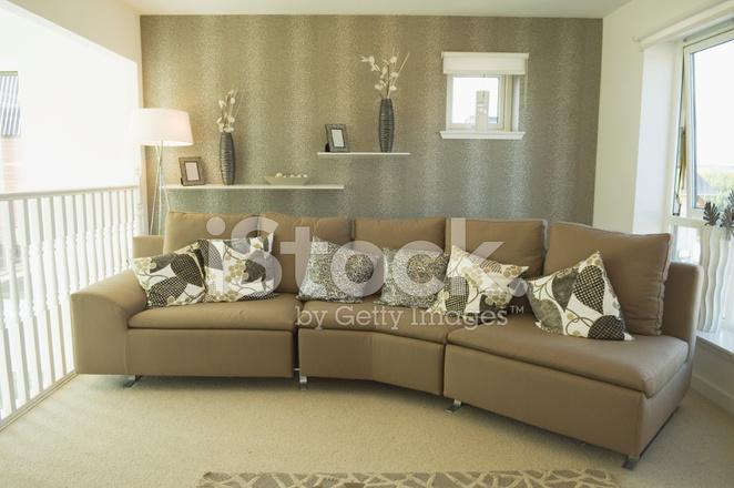 Sof Moderno Em Sala Fotos Do Acervo