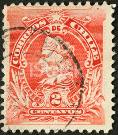 Christopher Columbus On Old Chile Stamp