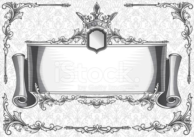 Pergamena Decorativa Stock Vector Freeimagescom