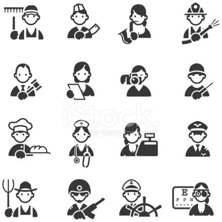 Icons Of 16 Different Professions 632537 on industrial electrician symbols