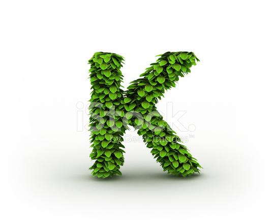 Letra K, Alfabeto DE Hojas Verdes Fotografías de stock - FreeImages.com