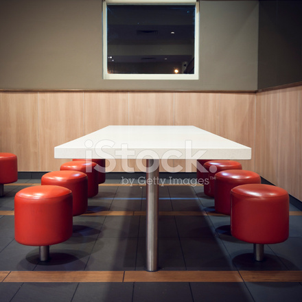 Fast Food Restaurant Interior Decor AT Night Stock Photos Simple Interior Design Fast Food Decor