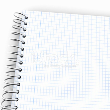 notebook with graph paper