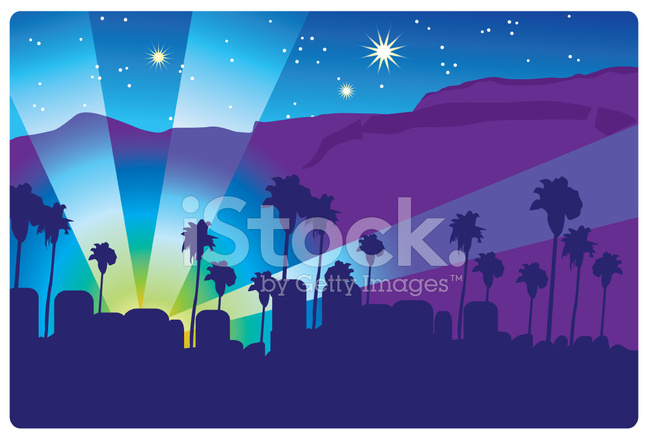 Hollywood Hills 2 Stock Vector