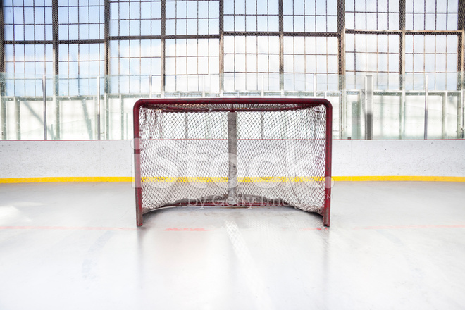 Ice Hockey Net IN AN Arena Stock Photos - FreeImages com