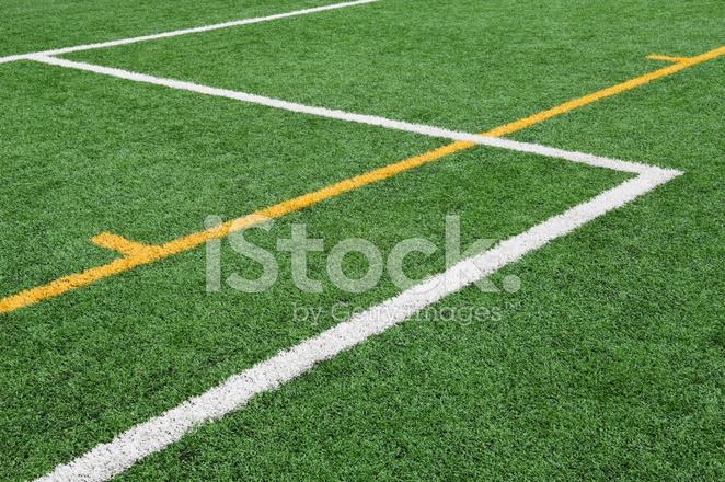Gymnasium Track Startlinie Stockfotos