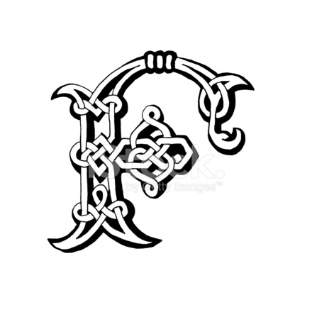 Celtic Letter F Stock Vector Freeimages Com