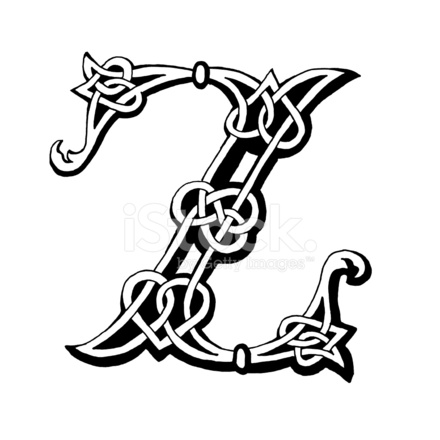 Celtic Letter Z 1015264 on outdoor signs