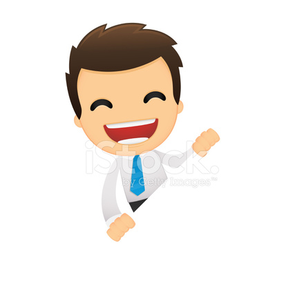Funny Cartoon Office Worker Stock Vector Freeimages Com