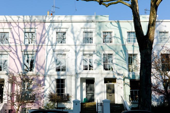 London architektur pastel farbige h user notting hill - London architektur ...