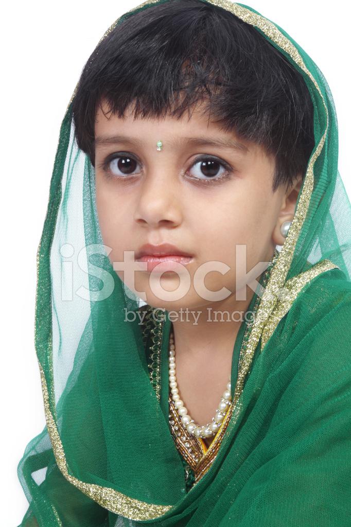 Indian Traditional Little Girl Stock Photos - Freeimagescom-5200