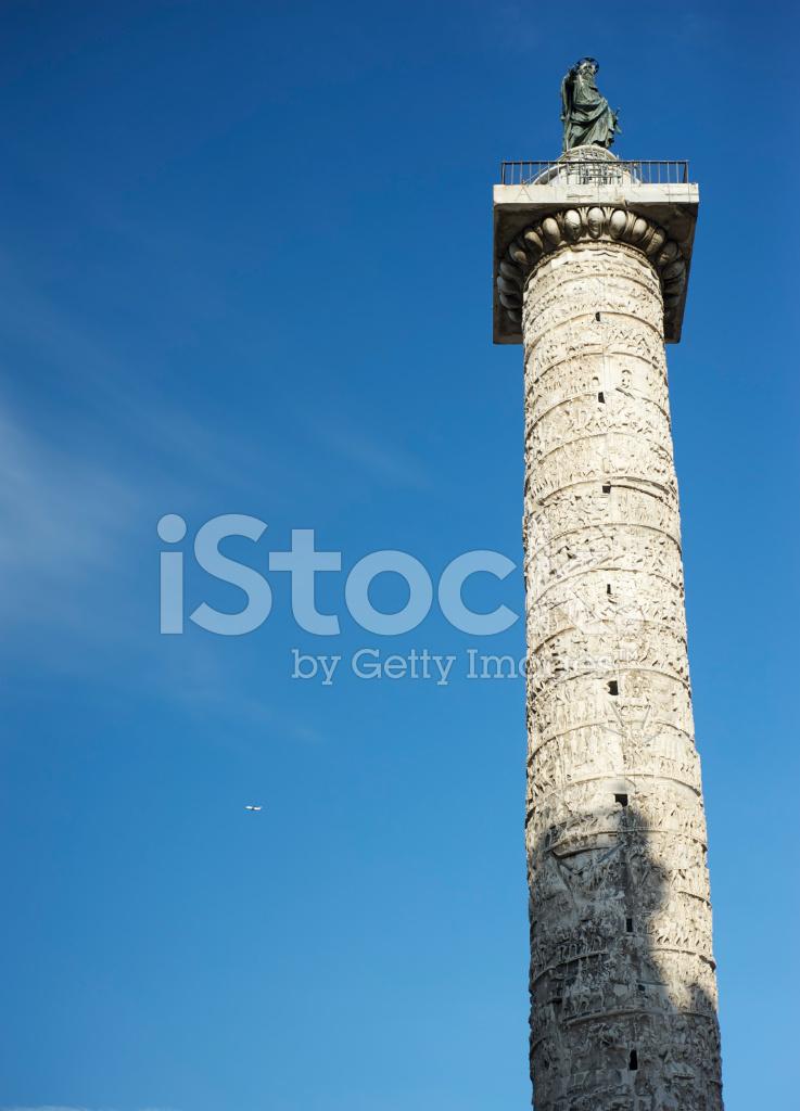 Monumento DE LA Columna DE Marco Aurelio Fotografías de stock ...