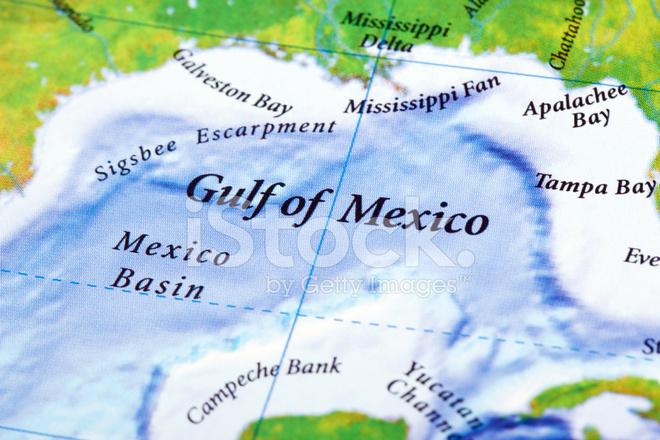 Mexikanska Golfen Karta Stockfoton Freeimages Com