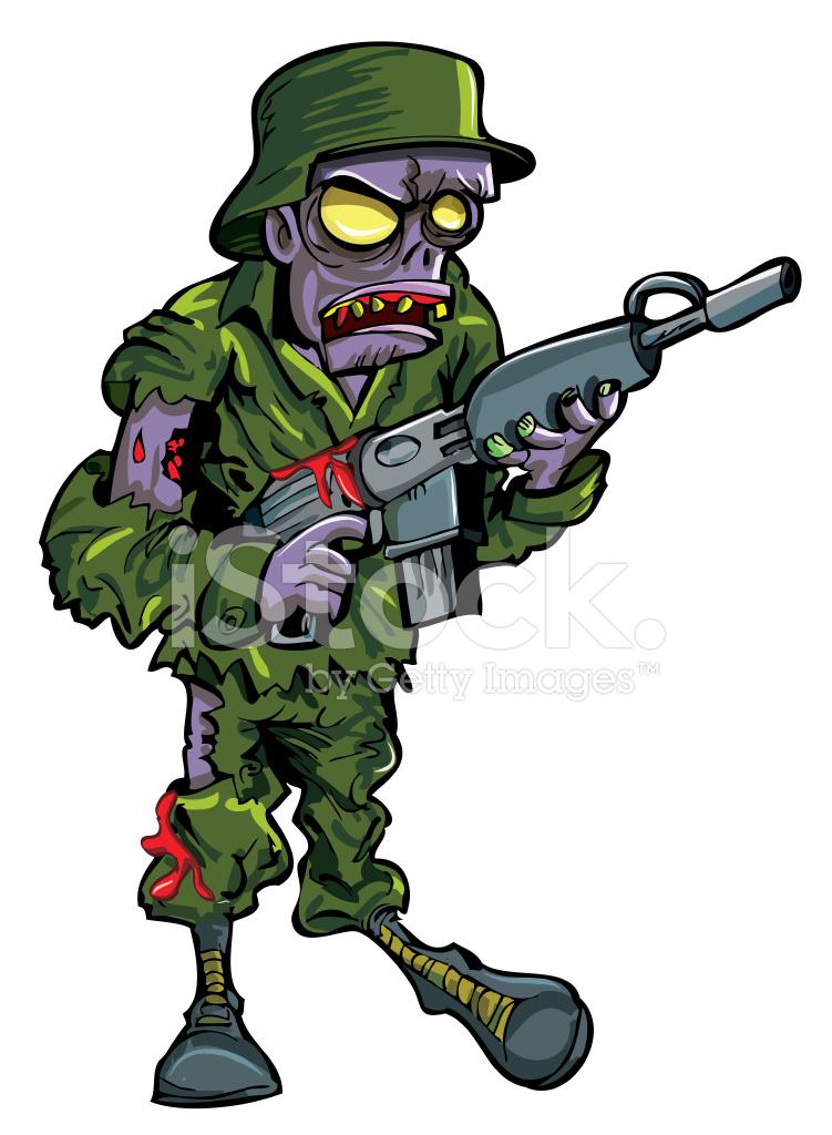 soldado de zumbi de desenhos animados com uma isolado no gun clip art free images gun clipart ww1