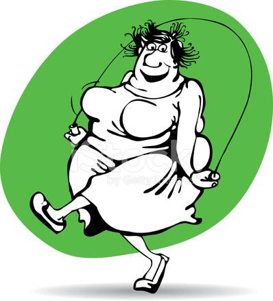 Картинки по запросу fat person jumping rope